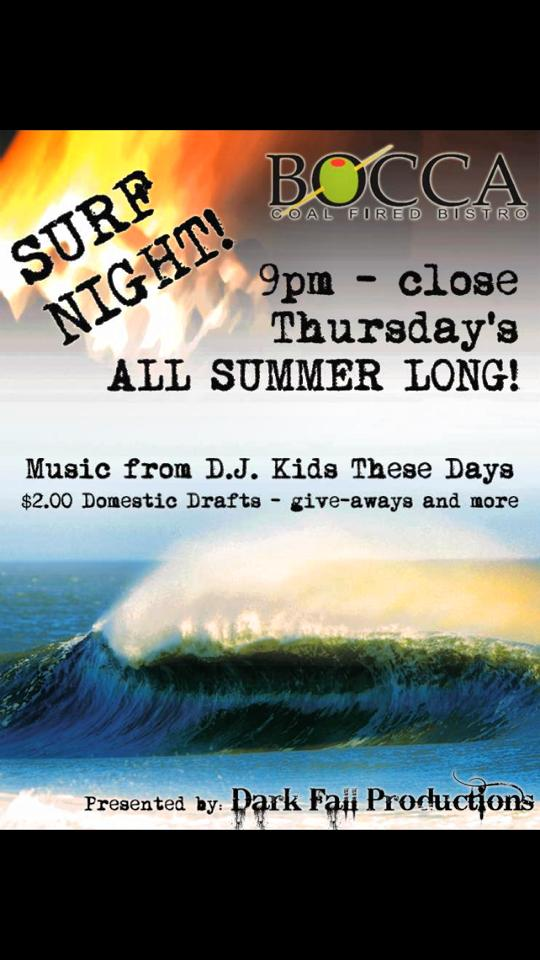 Surf Night @ Bocca Coal Fired Bistro  | Margate City | New Jersey | United States